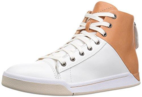 Diesel Mens Tempus S-smeraldo Moda Sneaker Pelle Di Pecora / Bianco