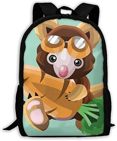 NA Rucksack Koala Holding A Karotte Reißverschluss Schule Büchertasche Daypack Reiserucksack Gym Bag für Männer und Frauen