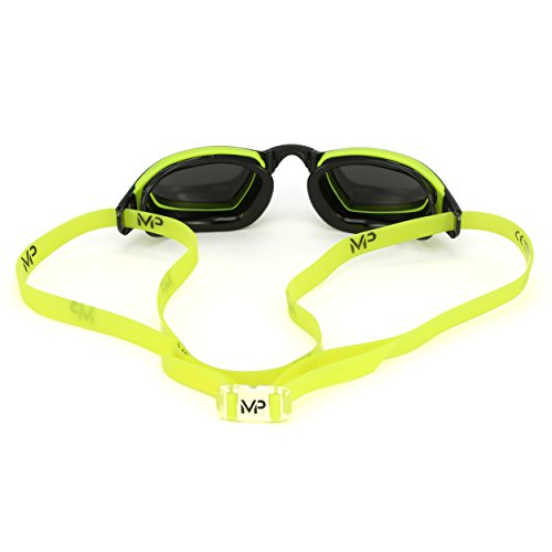 MP Michael Phelps XCEED Swimming Goggles, Mirrored Lens, Yellow/Black Frame by MP Michael Phelps (Image #2)