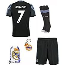 2016/2017 Real Madrid Third Away #7 Ronaldo Kids Soccer Football Jersey & Shorts & Socks & Keychain
