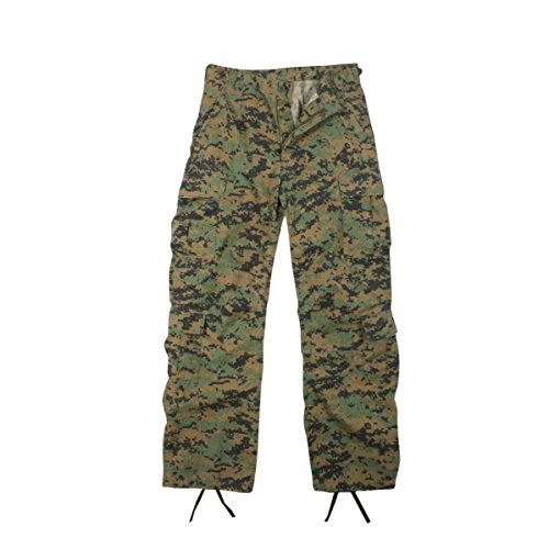 Woodland Digital Camouflage Vintage Paratrooper Fatigues (Digital Woodland Camo Design)