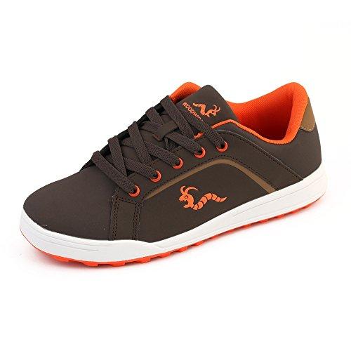 Woodworm Surge V3 Golf Shoe- Brown/Orange Size 12