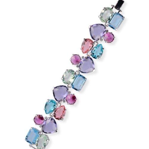 Argent et bracelet swarovski multicolore