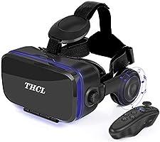 VR ゴーグル スマホ VRヘッドセット dmm アンチブルーレンズ 3D ゲーム 映画 動画 4.7~6.2インチの めがねメガネ 眼鏡 iPhone Android などのスマホ対応 ワンクリック受話...