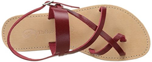THELUTO Candy - Sandalias de Gladiador Mujer Rouge (Rouge)