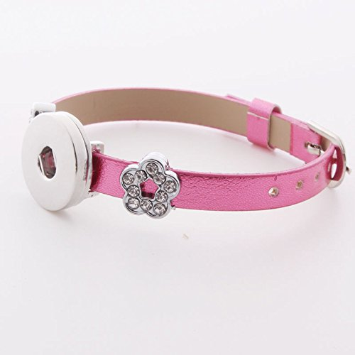 DIY 1pcs Charm Extendable Leather Bracelet for Noosa Snaps Chunk Button A055 -