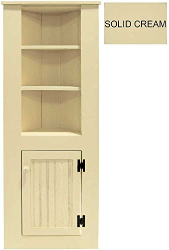 Sawdust City Small Wooden Corner Hutch (Solid - - Pine Solid Hutch