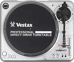 Vestax PDX-2000mkII Professional Direct Drive DJ Turntable with A.S.T.S. Tone Arm (Black)