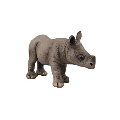 Dartphew Toys,Dartphew 1Pcs Rhinoceros Animal Model Toy Figurine Model Ornament Fashion Great Gift for Safe & Fun Role Play for Kids Baby(Safety Non-toxic) (Small Rhino)
