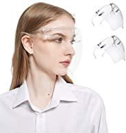 Face Shields Set with 12 Replaceable Anti Fog Shields and 6 Reusable Colored Glasses for Man and Women to Prot