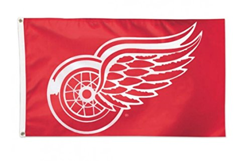 NHL Detroit Red Wings 3 x 5 foot Deluxe Flag