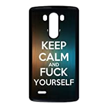 Personalized Keep Calm and Fuck Yourself LG G4 AT&T Protective Case Black Phone Cover