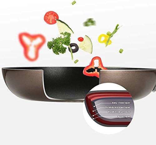 zzx Poêle à Frire Poêle Antiadhésive en Alliage D'aluminium 7 Pièces Pot Wok Poêle à Soupe Combinaison De Combinaison Robuste Et Durable