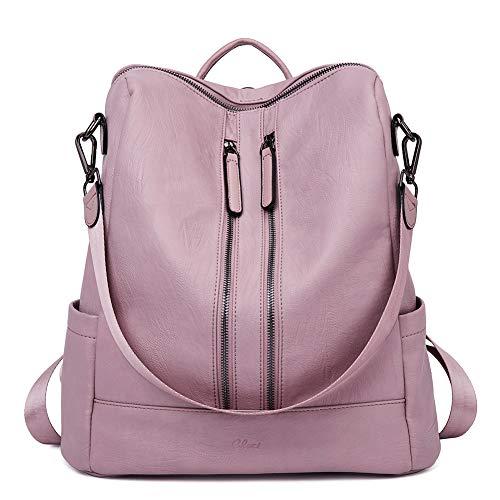 Women Backpack Purse Leather Fashion Travel Casual Detachable Ladies Shoulder Bag Pink