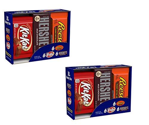 HERSHEY'S Christmas Chocolate Candy Bar Assorted Variety Box (HERSHEY'S Milk Chocolate, KIT KAT, REESE'S Cups), Full…