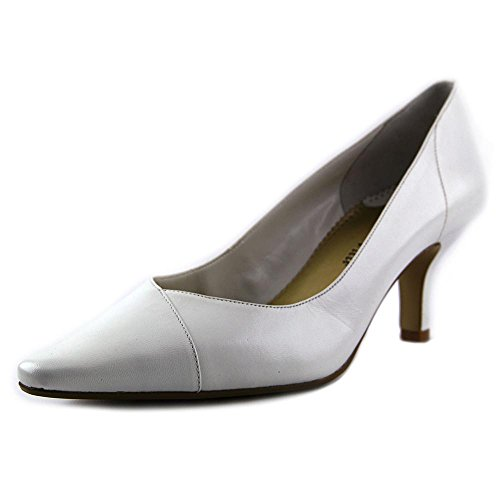 Bella Vita Womens Wow Leather Pointed Toe Classic, White Kidskin, Size 10.0