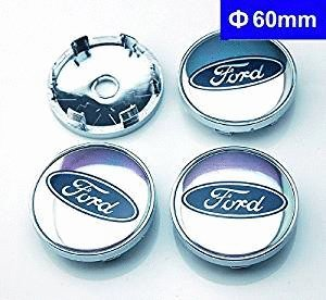 4 piezas de 60 mm centro de rueda Hub Caps cubierta para Ford Focus 2,