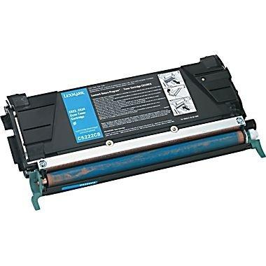 (TopTech Toners Remanufactured Toner Cartridge Replacement for Lexmark C5222CS (C522) - Cyan)