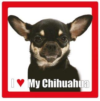 Carré Dessous Verre coloured Race Chien My Avec De Céramique Nom I Dog Photographie En Love Chihuahua Multi w0YBqUxB