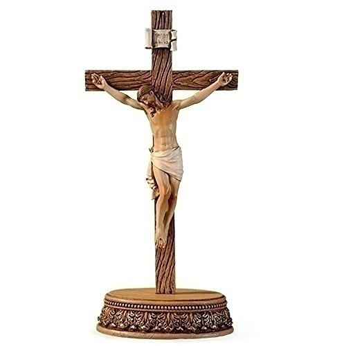 Romana Collection (Renaissance Collection Joseph's Studio by Roman Exclusive 2 Piece Set Crucifix with Detailed Base, 8.5-Inch)
