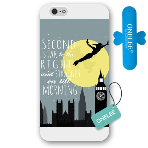 Customized White Disney Cartoon Peter Pan iPhone 6 Plus Case, Only fit iPhone 6 5.5