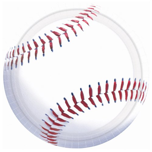 Amscan Baseball Dinner Plates - 8 ct (Baseball Dinner Plates)