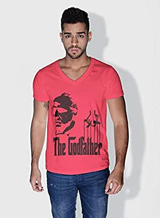 Creo The Godfather Movie Posters T-Shirts For Men - L, Pink