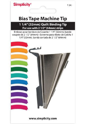 Simplicity 1-1/4 Inch Quilt Binding Tip (For Use With 2-1/2 Inch Strips) by Simplicity Creative Group, Inc