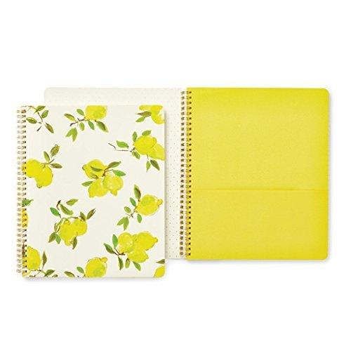 Kate Spade Large Spiral Notebook, Lemon, Bright Yellow (173133)