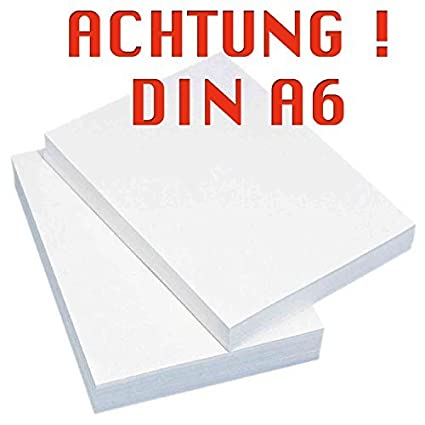 INDIGOS - Papel para fotocopiadora o impresora (DIN A6, 2000 ...