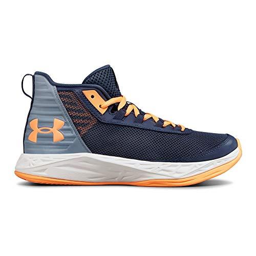 Under Armour Girls' Grade School Jet 2018 Basketball Shoe, Utility (500)/Washed Blue, 6