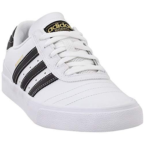 Heels Suede Adidas - adidas Skateboarding Men's Busenitz Vulc Footwear White/Core Black/Gold Metallic 9 D US