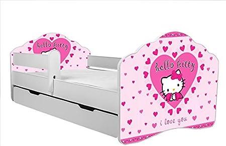 Letti Per Bambini Hello Kitty.Lettino Per Bambini Letto Hello Kitty Dimensioni 160 X 80 Cm Con
