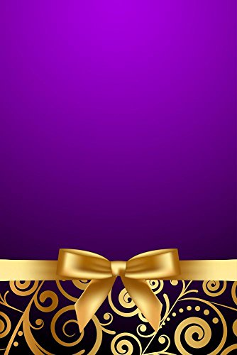 Wallmonkeys Vector Purple and Luxury Frame with Gold Ribbon Wall Decal Peel and Stick Graphic WM238529 (24 in H x 16 in W) by Wallmonkeys (Image #1)