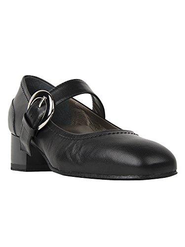 Cuir nbsp;noir Nappa Fuselage Femme Chaussures nbsp;– qBOOaw