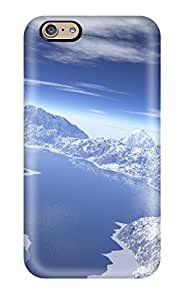 Hard Plastic Iphone 6 Case Back Cover,hot Snowy Peaks D Design Snow Glaciar Lake Digital Case At Perfect Diy