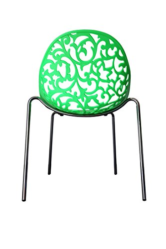 Design Stuhl Flora Stühle Esszimmerstuhl Wohnzimmerstuhl Loungestuhl 221636 grün