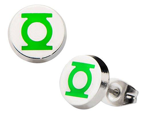 Green Lantern Stainless Enamel Earrings product image