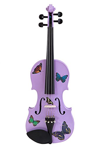 - Creative Concept Instruments BSL5034 Rozanna's Butterfly Dream 3/4 Violin Outfit, Lavender