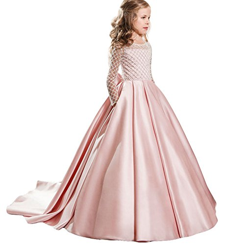 LZH Girls Wedding Dress Princess Pageant Embroidery Ball Gown Dresses by LZH
