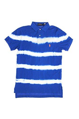 Ralph Lauren Mens Custom Fit Mesh Dyed Striped Polo Shirt...