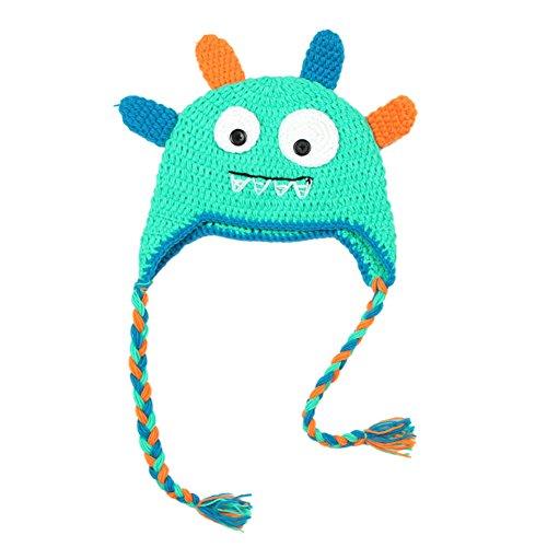 Crochet Baby Ear Flap Hat - Yonger Cute Baby Girls Monster Crochet Knit Toddler Hat With Ear Flap