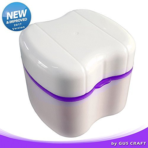 New 2017 Lavender Purple Denture Box with Simple Retrieval Tab, Great for Dental Care, Easy to Open, Store and Retrieve (Lavender - Toothpaste Renew