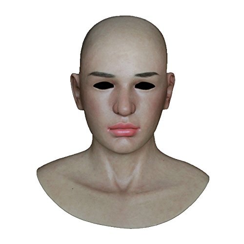 Ultra-real Cyberskin Male Mask Pull-over Hood Skin Texture Halloween Disguising Prop (Do Your Own Halloween Makeup)