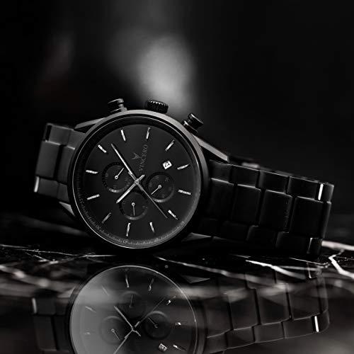 2e0a20633a39 Vincero Luxury Men s Chrono S Wrist Watch - Steel Watch Band - 43mm  Chronograph Watch - Japanese Quartz Movement