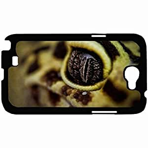 New Style Customized Back Cover Case For Samsung Galaxy Note 2 Hardshell Case, Back Cover Design Gecko Personalized Unique Case For Samsung Note 2