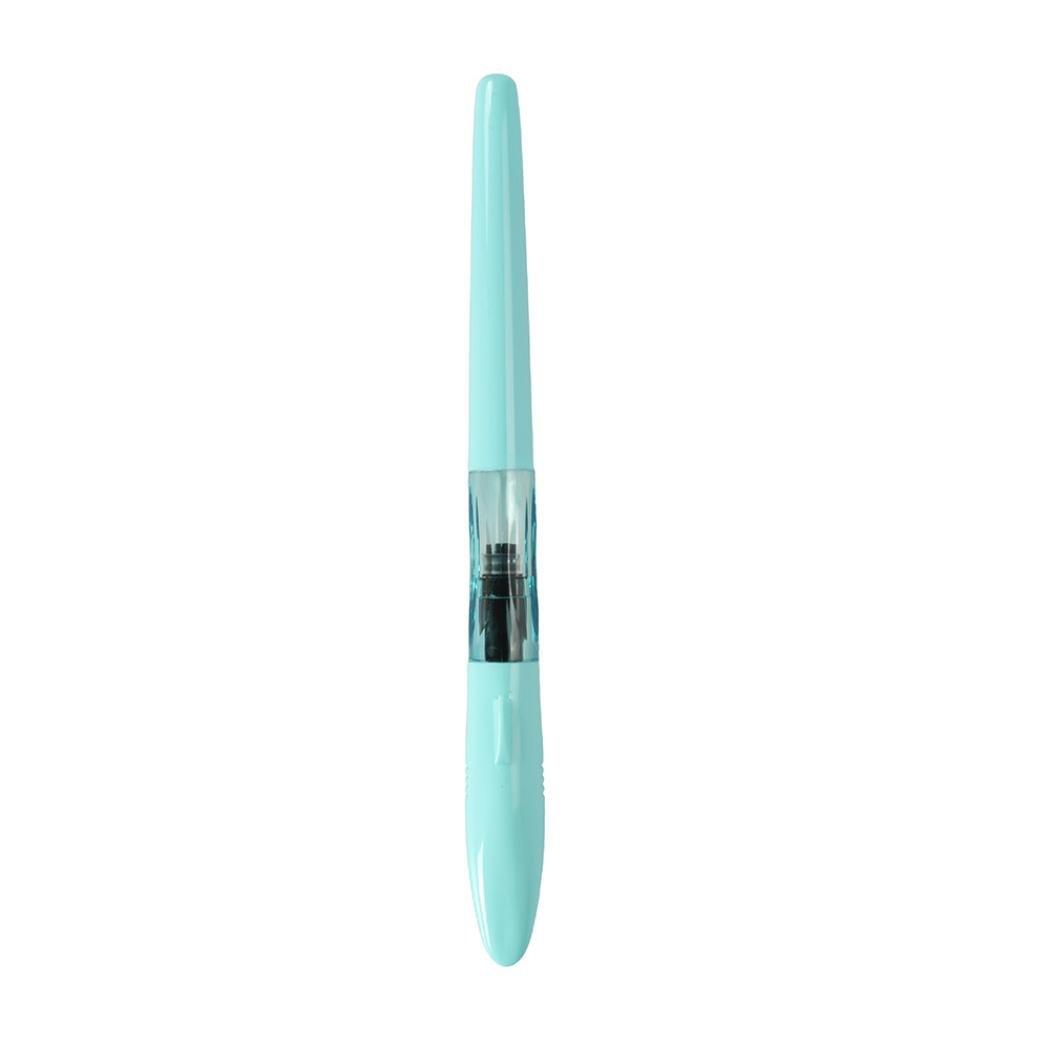 新しいJinhao The Sharkスパイラル透明カラフルOffice細かいペン先万年筆 0.5mm マルチカラー B07F319BY8 スカイブルー 0.5mm