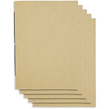 (Set of 5) Handmade 4 x 6 inches Notebook / Plain Blank Cover / 60 Unlined Page | Lay Flat Binding | Cream Paper