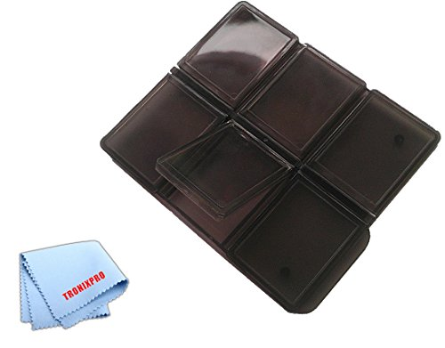 SD Memory Card Holder for 6 Cards, 6 Slots and a Microfiber Cloth - 6pc Multi Memory Card Holder
