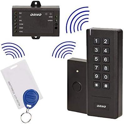 Orno - Digicode inalámbrico con lector RFID, relé y botón